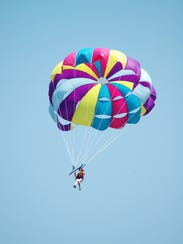 Parasailing is one of the best ways to see Tahoe's