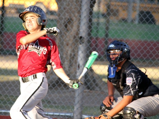 Deming Little League All Stars slugger Iverson Ruiz