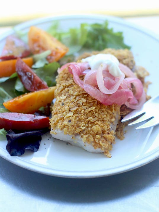 Food KitchenWise Crusted Tilapia