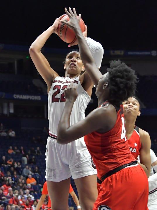 NCAA Womens Basketball: SEC Conference Tournament-Georgia vs South Carolina