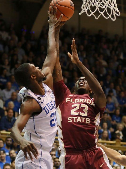 Duke holds off FSU in men's basketball, 75-70
