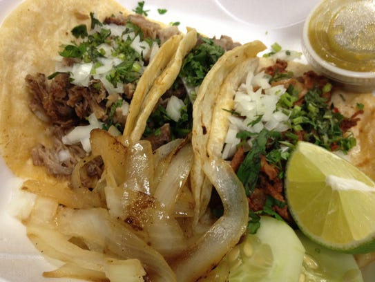A trio of tacos from Tacos San Miguel in Cape Coral.