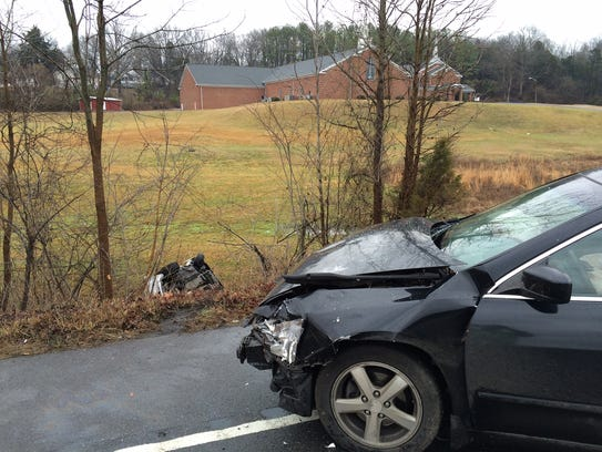 Two vehicles were involved in a wreck Monday morning