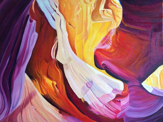 "Connie Falk's ""Antelope Canyon 3"" is a part of the"