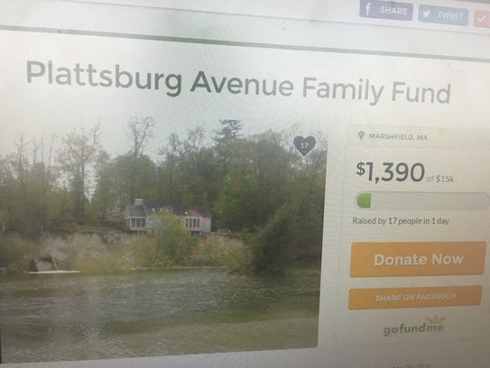 An online fundraiser has been set up for a family displaced