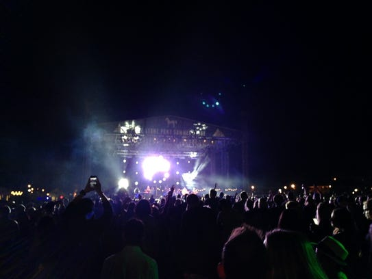 Rebelution on stage at thje Stone Pony Summer Stage