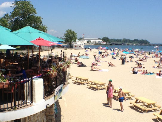 Rye Town Park & Beach is open to the public.