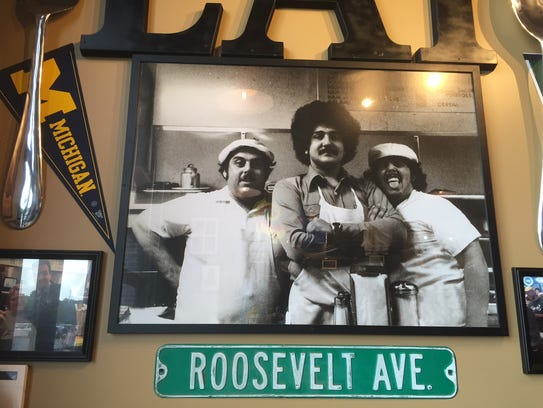 JIm Patrinos, center, began the Primanti Bros. chain.