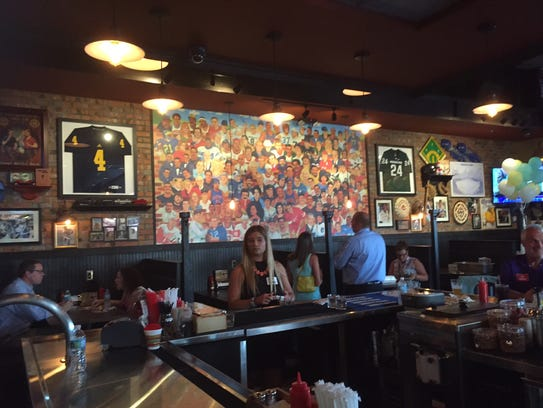 A large mural at the new Primanti Bros. in Taylor features