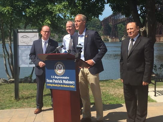 U.S. Rep. Sean Patrick Maloney was joined Wednesday