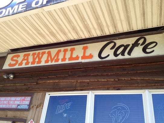 The marquee of Seaside Park's iconic Sawmill Cafe in