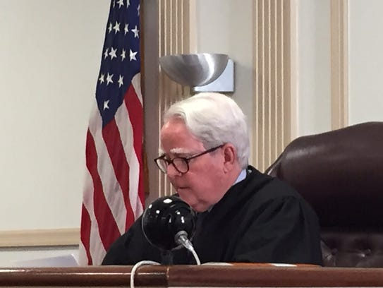 Superior Court Judge Paul Armstrong, sitting in Morristown.