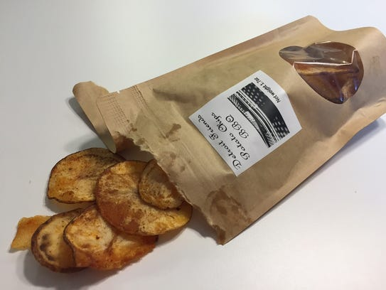 Detroit Friends Potato Chips have a homemade look that