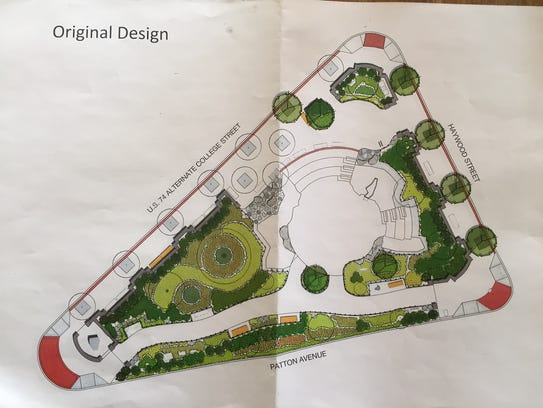 An original redesign of Pritchard Park was rejected