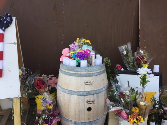 Bouquets of flowers adorn the outside Char's South