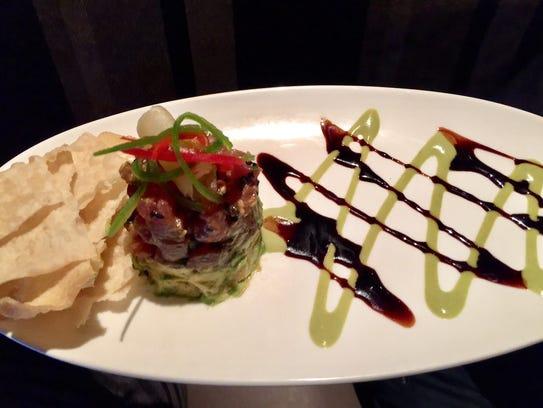 Ahi poke appetizer at View 202.