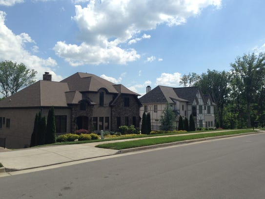 Homes at the Tuscany Hills subdivision in Brentwood.