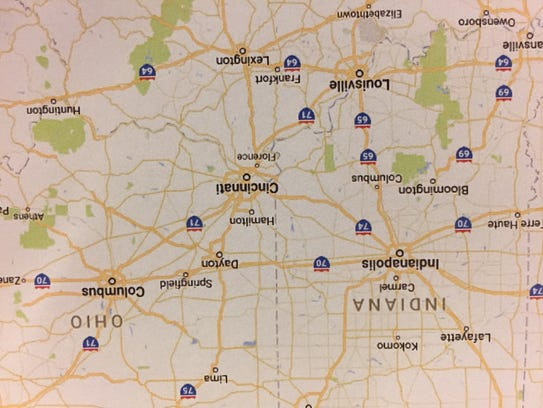 A Google Maps printout shows 176 miles separate Indianapolis