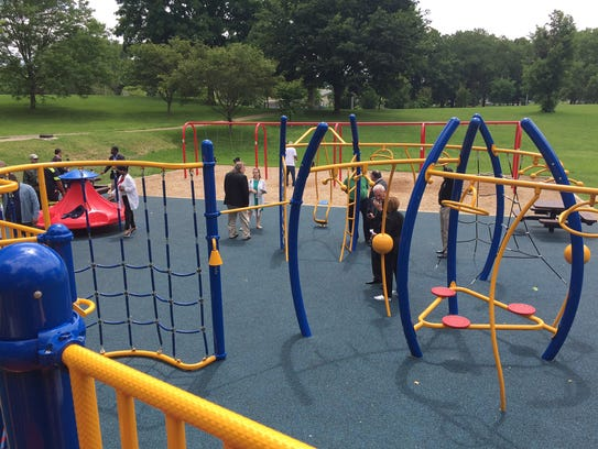 A $375,000 renovation project in Wilmington allowed for a new playground to be built at Brown Burton Winchester Park in Wilmington. The city is promising more improvements to parks and playgrounds as part of a $43 million bond issuance.