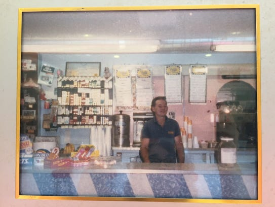 Larry Albright's father owned an ice cream shop in