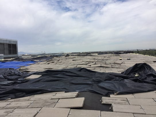 A monsoon storm on July 15, 2017, damaged the roof