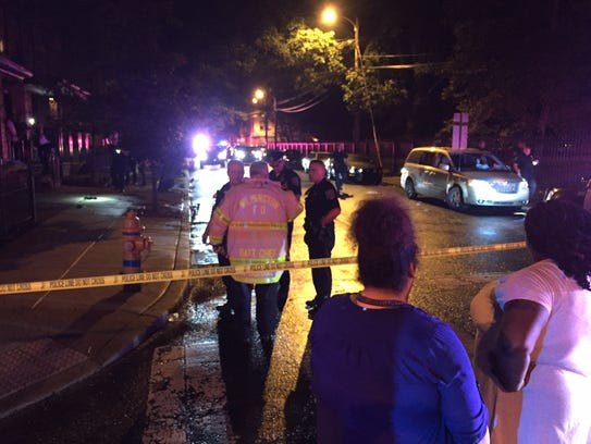 Authorities investigate an apparent shooting at on