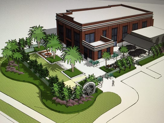 A rendering of the completed American Icon microbrewery,