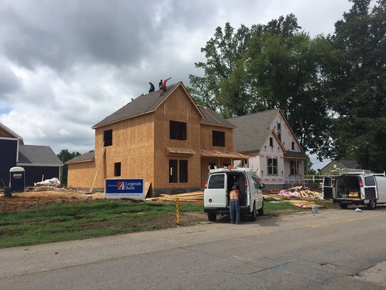 New homes under construction in Old Hickory, Tenn.