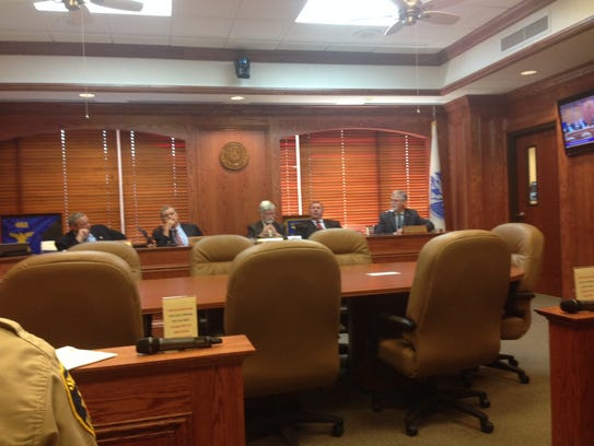 Wichita County Commissioners discuss a decision Monday