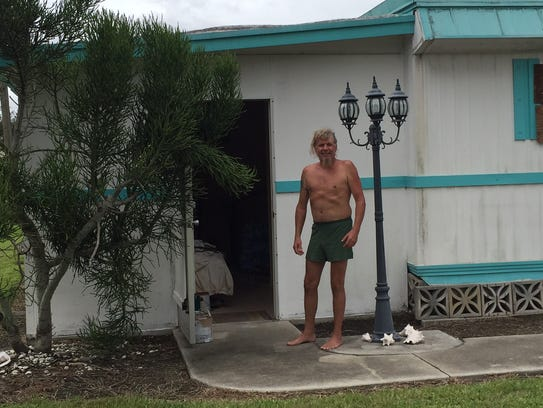Bruce Taylor rode out Hurricane Irma at his home in
