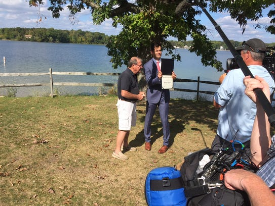 "A segment for ""The Daily Show"" was shot on Silver Lake"