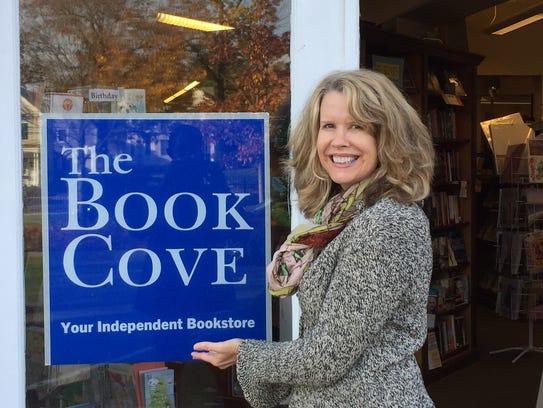 Book Cove manager Tara Lombardozzi is shown outside