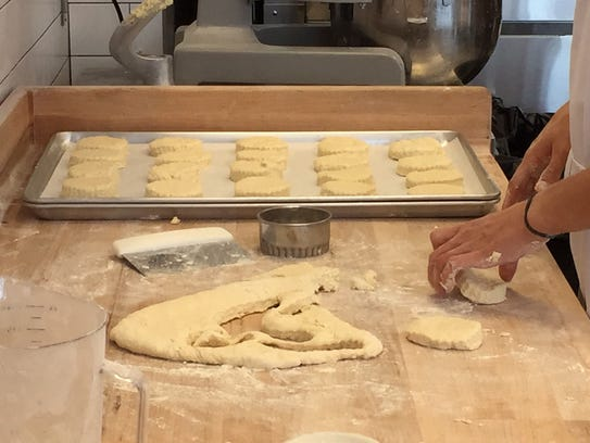 Making biscuits at Maple Street Biscuit Company.