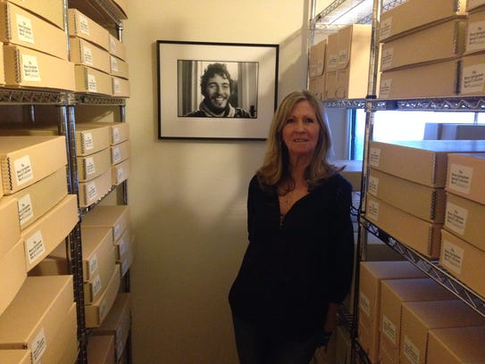 Eileen Chapman inside the Bruce Springsteen Archives
