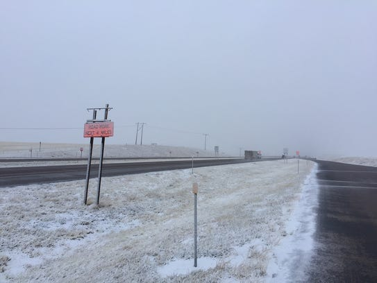 Freezing rain means drives need to use extra caution on Interstate 15 in northcentral Montana.