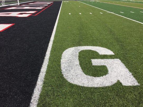 Harding Stadium saw new turf installed over the summer.