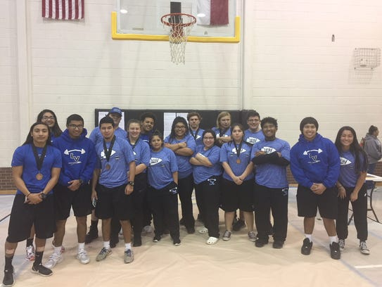 Lake View High School's powerlifting team competed