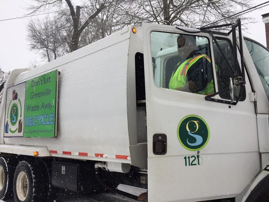 Mike Foster with Greenville Public Works was out early
