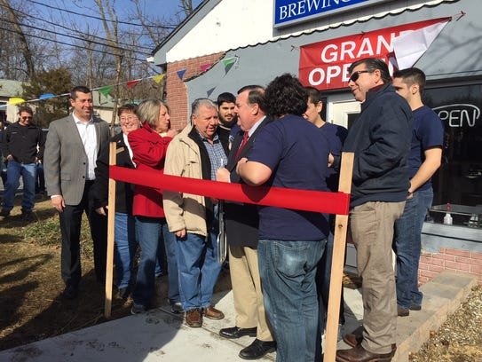 Denville Mayor Tom Andes presided over the ribbon cutting,