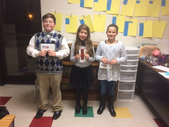 Winners in the sixth grade division of the Robertson