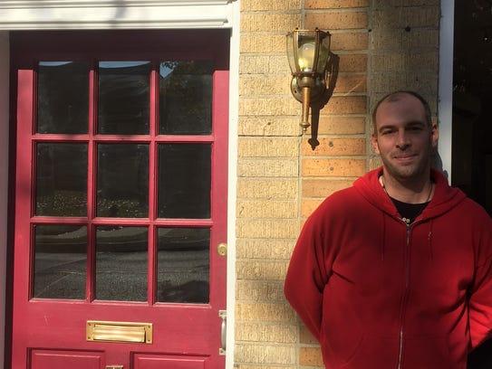 Phil Manganaro outside Park Place, Merchantville