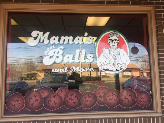 Mama's MeatBalls celebrates the meatball recipe of founder Michael Antinore's grandma, whose likeness graces the food truck, menu and signage for the store.