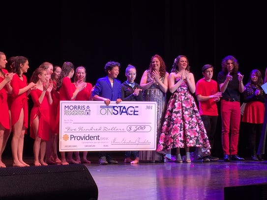 CJ Ryan won the Morristown Onstage $500 audience award