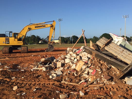 Rubble sits on the southwest side of the Jimmy Graves