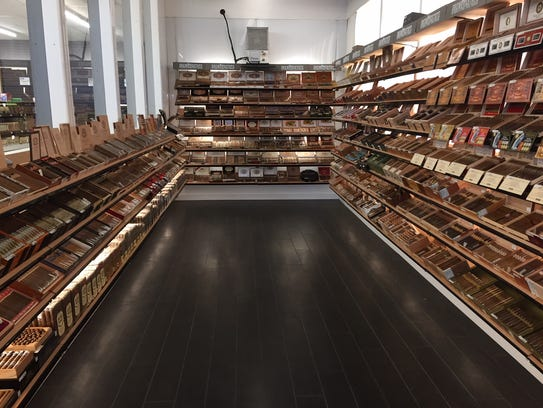 The walk-in humidor at 7 Cuz Beer Store is 300 square