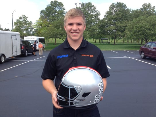 Ohio State junior and race car driver Patrick Gallagher