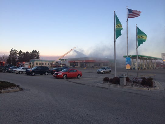 A fire was reported at Burger King/BP, 665 East Ave.