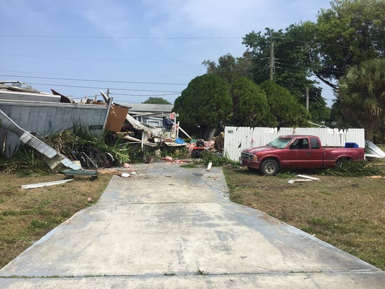 A Trailer On Palm Drive In South Fort Myers Was Destroyed