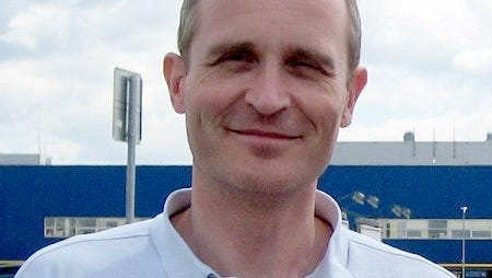 Dennis Christensen, shown in a file photo, was arrested May 25, 2017, in Oryol, Russia, in a raid by police and security agents on a worship service by Jehovah's Witnesses, according to the group's spokesperson in New York.