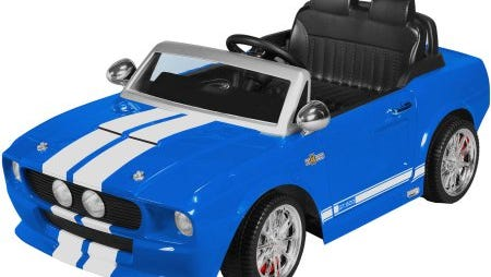 Hackettstown police provided this stock image of a Power Wheel Mustang toy car that was stolen from a residence on Monday